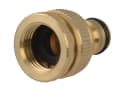 Brass Dual Tap Connector 12.5-19mm (1/2 - 3/4in)