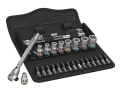 8100 SA 8 Zyklop Metal Switch Slim Ratchet & Socket Set of 28 Metric 1/4in Drive