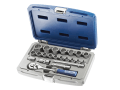 Socket & Accessory Set of 22 Metric 3/8in Drive