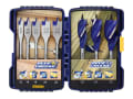 Blue Groove Auger & Flat Drill Bit Set, 8 Piece
