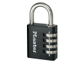 Black Finish 40mm 4-Digit Combination Padlock
