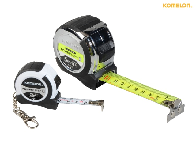 Metric only Width 13mm Komelon PowerBlade™ II Pocket Key Ring Tape 2m